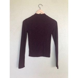 Prince Fox Burgundy ribbed turtleneck sweater top